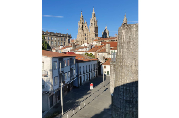 Views of the cathedral of Santiago de Compostela